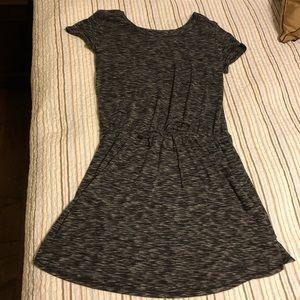 Cozy Draw String Waist Grey Dress Size Large